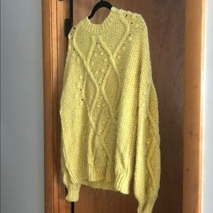 Yellow Knit Sweater size small ASOS